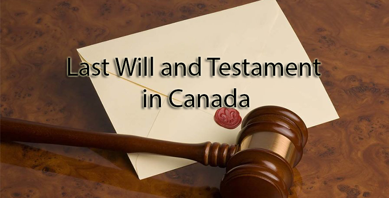 Last Will and Testament in Canada