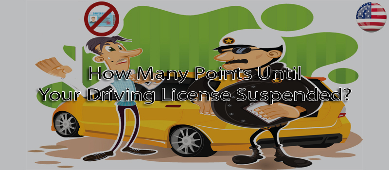 How many points until your driving license suspended?